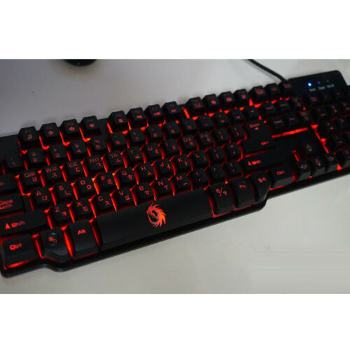 Drakan Plunger GK1 3 Color LED Gaming Keyboard Waterproof Low-Noise Wired USB