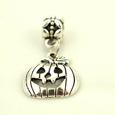 Fashion 10pcs Halloween Pumpkin Beads Charm Pendant DIY Bracelets Best Price