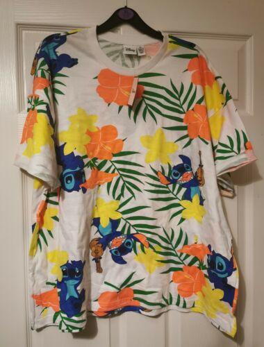 Disney primark lilo and stitch Stitch Hawaiian bright tropical T-Shirt SIZES