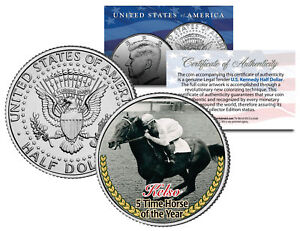 KELSO-5-Time-Horse-of-the-Year-Thoroughbred-Racehorse-JFK-Half-Dollar-US-Coin