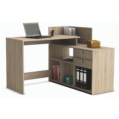Mesa de escritorio, ordenador o estudio roble 121cm para rincon de alta calidad