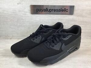 Men-s-Nike-Air-Max-90-Ultra-Moire-Triple-Black-819477-010-Size-11-5
