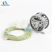 Fly Reel 3/4/5/6/7/8 Weight Large Arbor Aluminum Fly Fishing Reel & Line Combo
