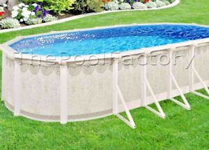 12x24x52 9 huge resin ledge hampton oval above ground swimming pool package ebay for Resin above ground swimming pools