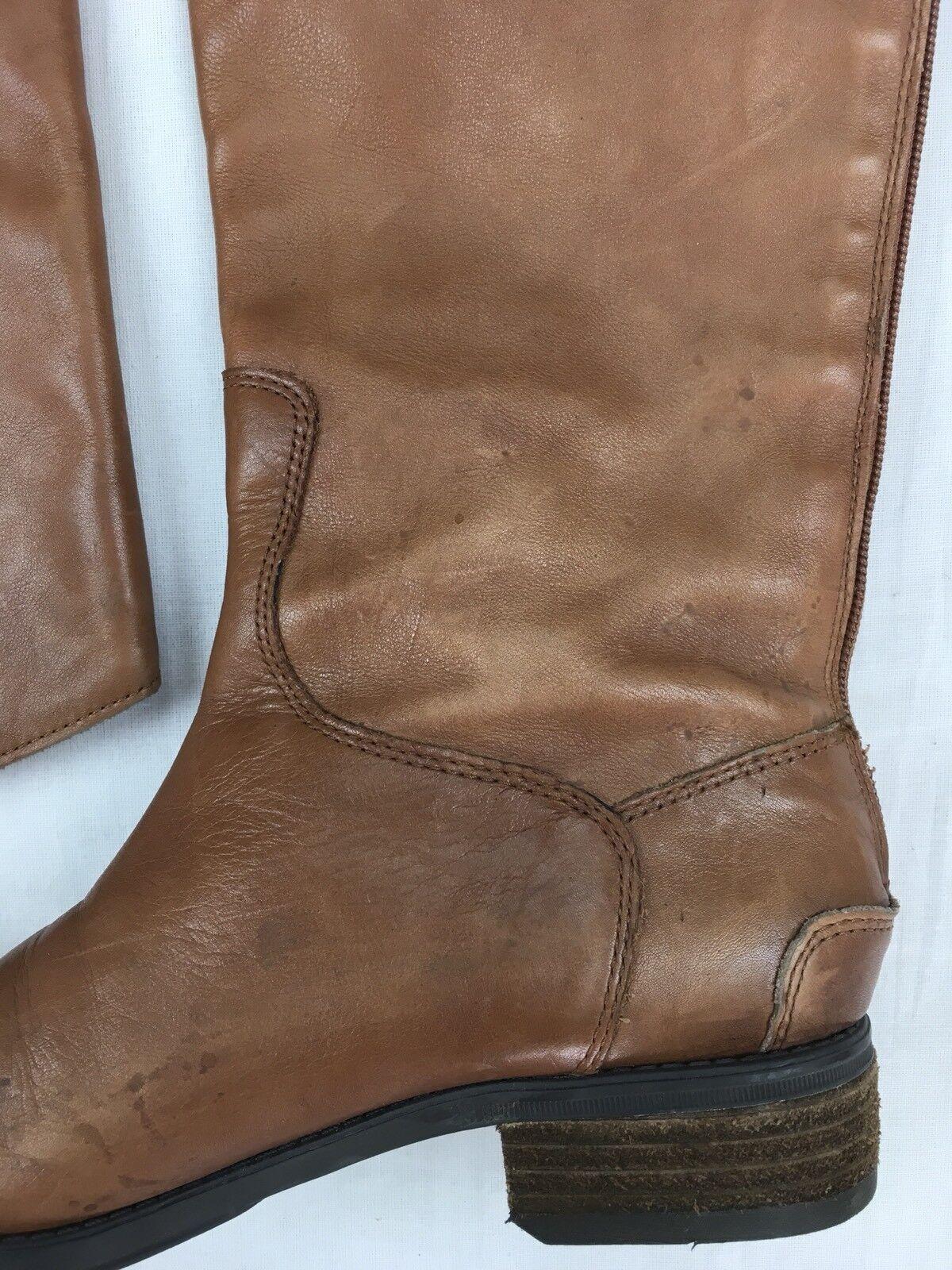 SAM SAM SAM EDELMAN Sale Penny Tall Pelle Riding Stivali Military Boot Whiskey Brown 6.5 f54f12