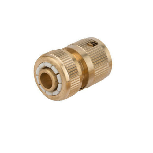 """3PK BRASS AUTO WATER STOP HOSE CONNECTOR FEMALE QUICK FIT TO 1//2/"""" COMPRESSION"""
