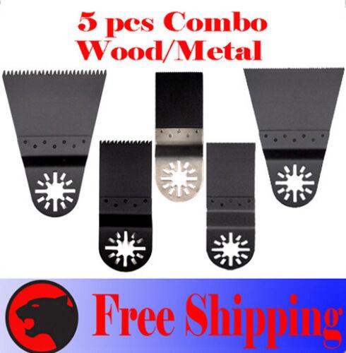 5 Combo Oscillating MultiTool Saw For Blade Dremel Multi-max Jobmax Ryobi