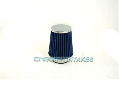 """BLUE UNIVERSAL 3.5/"""" 89mm SMALL AIR FILTER FOR TOYOTA SHORT//COLD AIR INTAKE"""