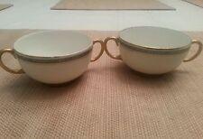 Antique JPL France Limoges France Two Handled Tea Cups