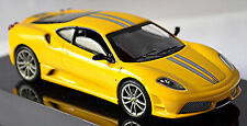 Ferrari 430 Scuderia Coupe 2007-09 gelb yellow metallic 1:43 Hot Wheels Elite