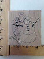 Inky Antics lion With Snowman (m2-2109-j)
