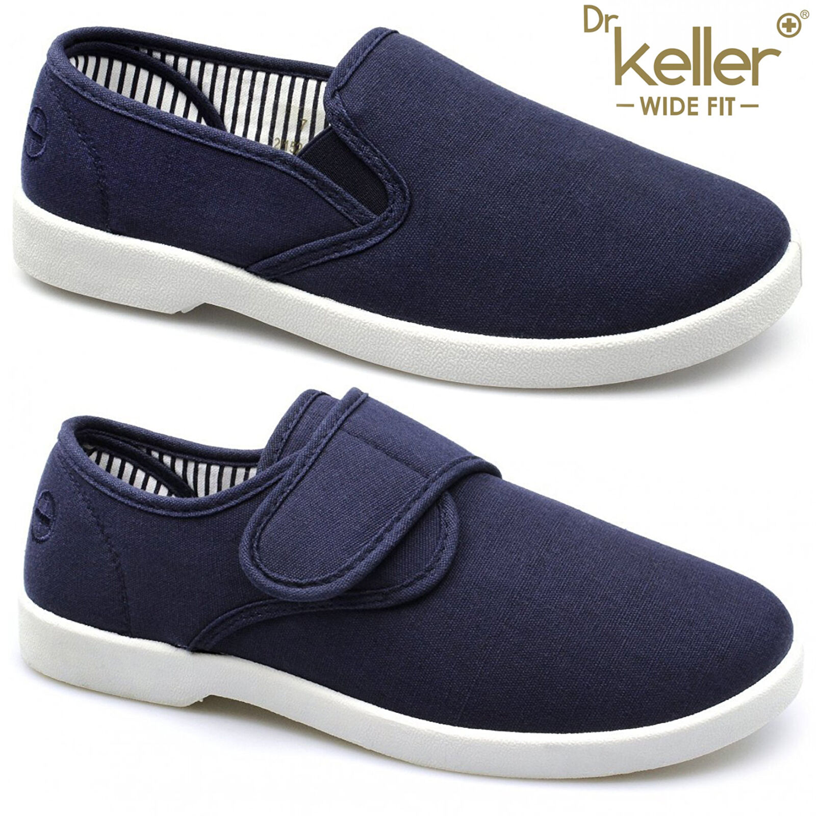 new dr keller mens canvas shoes wide fit deck pumps padded