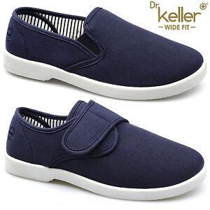 New-Dr-Keller-Mens-Canvas-Shoes-Wide-Fit-Deck-Pumps-Padded-Plimsolls-Espadrilles