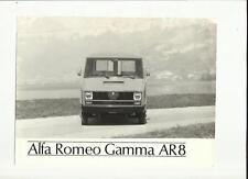 ALFA ROMEO GAMMA AR8  PRESS PHOTO 'SALES BROCHURE' CONNECTED