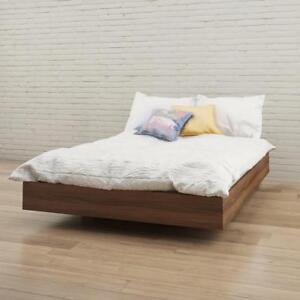 fe9f7e8ab5e7 Image is loading Nexera-345431-Full-Size-Platform-Bed-Walnut-Full
