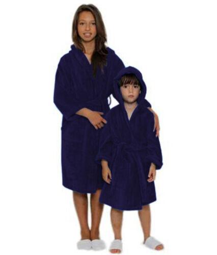 Enfants Garçons Filles Peignoir 100/% Coton Velours à Capuche Peignoir Robe Doux Serviette!