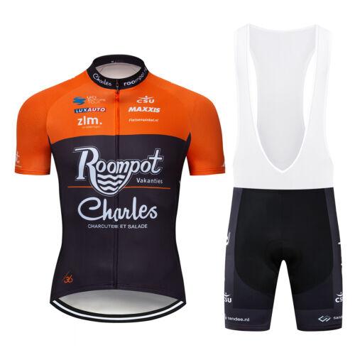 Men/'s Cycling Kits Jersey Bib Shorts Set Bicycle Team Short Outfit Sports Bike