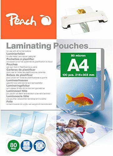 Peach PP580-02 Laminierfolien DIN A4 80 mikron 100 Stück