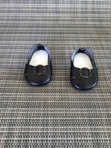 "American Girl 18/"" Doll Felicity Retired Original Meet Outfit Black Shoes ONLY"
