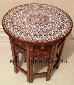 Image Is Loading Handmade Indian Inlaid Table Stunning Fine Inlay Work