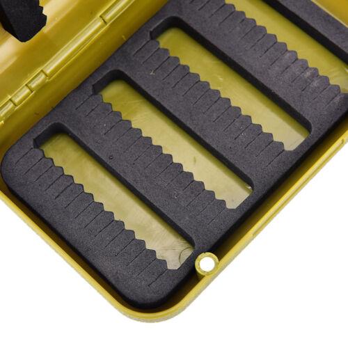 Details about  /waterproof fishing tackle box double side foam fly fishing lure bait hook cas/_ec