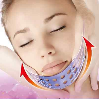 1pc Women's New Soft Silicon Sleeping Mask Belt Skin Firming Relax Anti Wrinkle