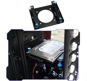 Quality-3-5-034-to5-25-034-Hard-Disk-Shock-Absorption-Bracket-Support-8cm-Fan-Black-CI