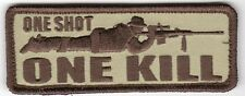 INFIDEL SNIPER ONE SHOT ONE KILL MORALE MILSPEC DESERT OPS PATCH