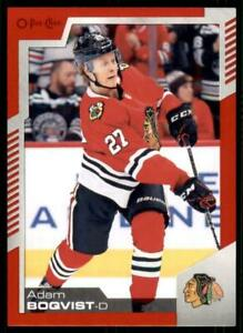 2020-21-UD-O-Pee-Chee-Red-Border-287-Adam-Boqvist-Chicago-Blackhawks