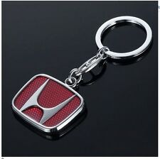 NEW 3D HONDA CHROME METAL CAR KEYRING KEYCAHIN KEYFOB WITH HONDA LOGO (G3)