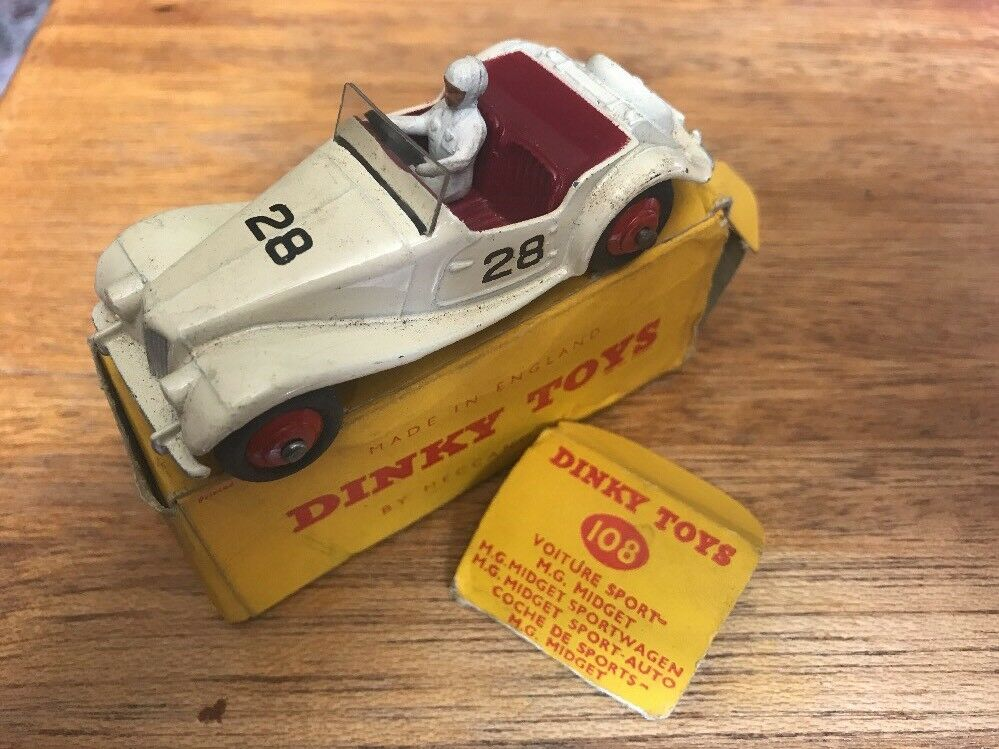 DINKY TOYS MODEL No.108  MG  MIDGET COMPETITION CAR