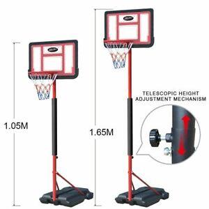 Details about Portable Adjustable Basketball Ring Stand Backboard System  Break Away Rim Kid
