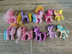 My Little Pony Lot Of 10 Small Figures Hasbro Mlp Set Ebay