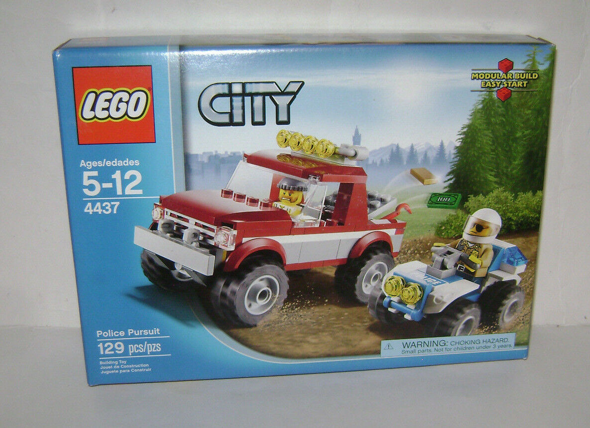 NEW 4437 Lego CITY Police Pursuit Building Toy SEALED BOX RETIROT RARE A