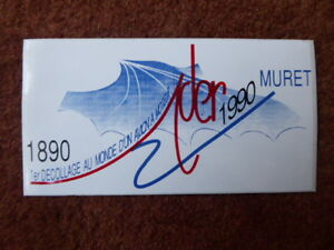 Autocollant Sticker Aufkleber Ader Eole Muret 1890-1990 Decollage Avion Moteur Svh5vcpc-07220822-675668965