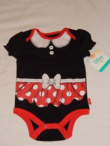 NEW-Minnie-Mouse-Disney-Baby-Creeper-Bodysuit-Outfit-T-Shirt-Girls-Infant-Sizes