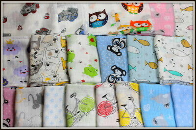 LARGE 70x80cm Muslin Squares 100/%Cotton Cloths Baby Nappies 1-20pcs Pieluchy