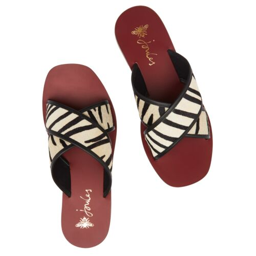 Joules Maywell Femme Chaussures curseurs-Zebra Toutes Tailles