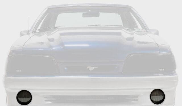 87-93 Ford Mustang V6 GT Cobra Acrylic GTS Smoke Headlight Covers Pair GT0223S