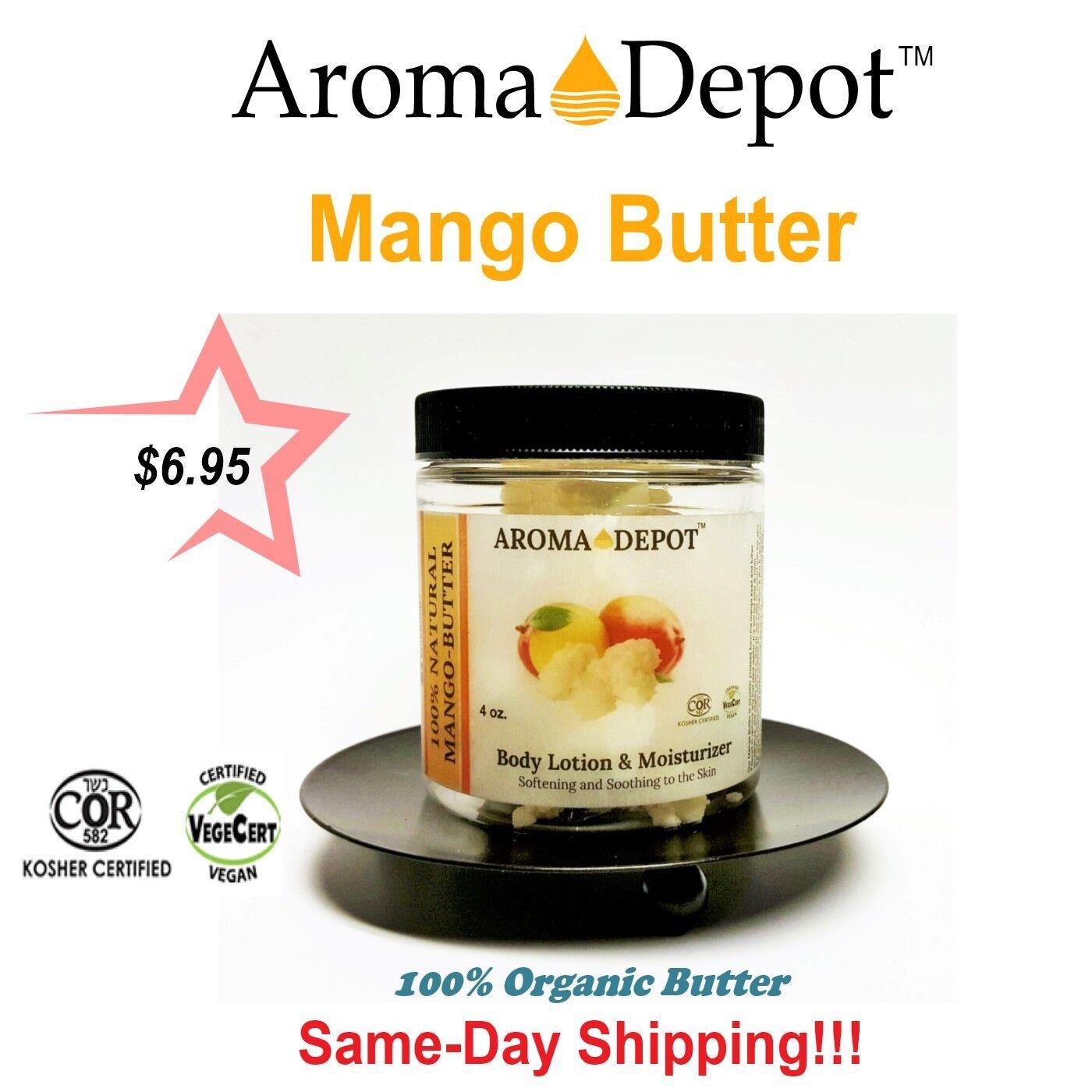 4oz. Mango Butter Raw Pure 100% Raw Natural Unrefined Body Butter lot Jar