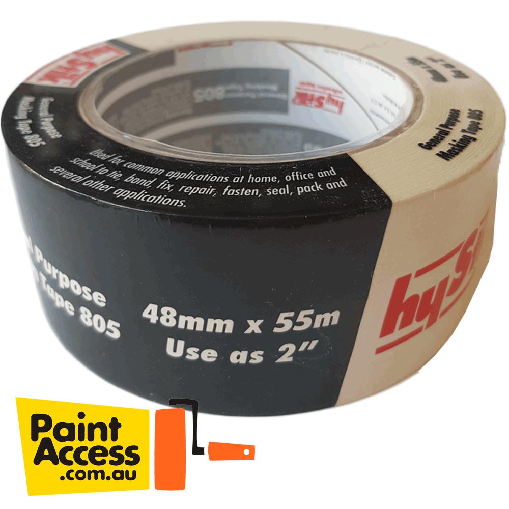 Hystik General Purpose Masking Tape Rolls 48mm x 55m BULK DISCOUNTS