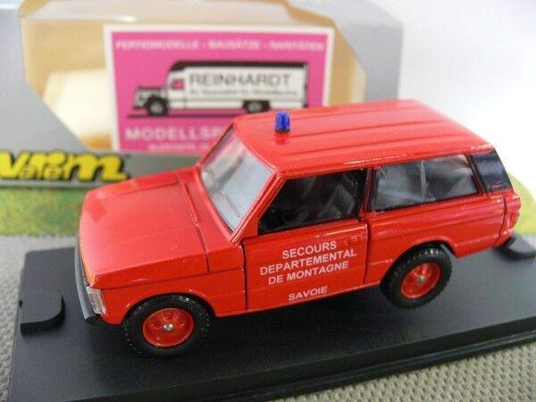 1 43 SOLIDO RANGE ROVER Pompier Secours DEPARTEMENTAL DE MONTAGNE SAVOIE F 241