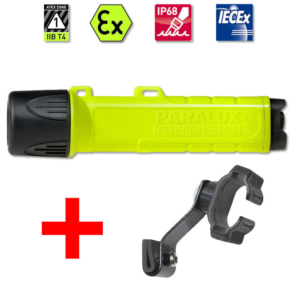 Casco lámpara px 1 LED + soporte para la norma DIN-casco, casco soporte, ex-projoección, bomberos