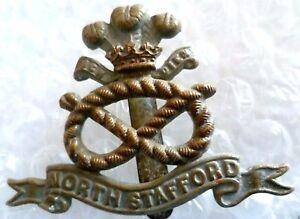 Badge WW1 British Army North Stafford Regiment Cap Badge BiMetal Genuine - ilford, Essex, United Kingdom - Badge WW1 British Army North Stafford Regiment Cap Badge BiMetal Genuine - ilford, Essex, United Kingdom