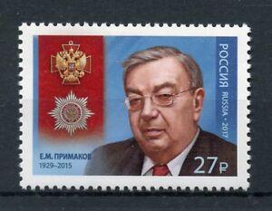 Russie 2017 Neuf Sans Charnière Yevgeny Primakov 1 V Set Hommes Politiques Médailles Timbres