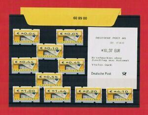 Vs-aq & Ovp 00 68 09 Nr 5.1 Ts3 Brd Tastensatz 3 4-410 €urocent 10 Werte **