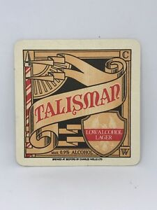 Vintage-Talisman-Lager-Beer-Coaster-Bar-Decoration-Man-Cave