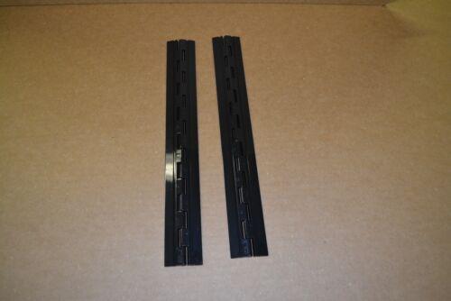 "PB6 ONE PAIR PIANO HINGE BLACK  ACRYLIC PLASTIC   6/"" LONG"