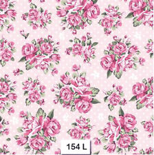 (154) TWO Individual Paper Luncheon Decoupage Napkins - ROSES, FLOWERS, PINK