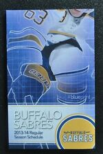 2013-14 Buffalo Sabres pocket schedule Tyler Ennis